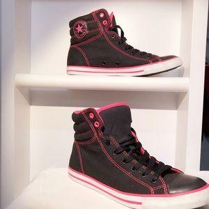 Black & pink converse all stars