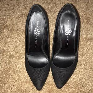 Black R&R heels.