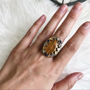 House of Harlow Tigers Eye Ring