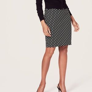 LOFT polka dot pencil skirt