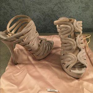 Nude Prada Sandals Size 39