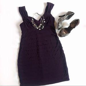R&M Richards purple sleeveless cocktail dress