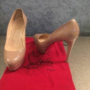 Nude Christian Louboutin Bianca Heel Size 39