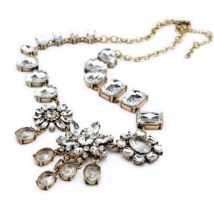 JUST IN J. Crew Crystal Collage Statement Necklace
