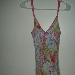 Midi chiffon multi color dress, goes with lots