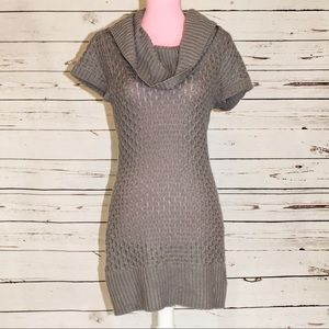 Candie's Sweater Dress Gray Cowl-neck