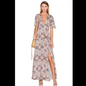 House of Harlow 1960 Blaire Wrap Maxi Dress