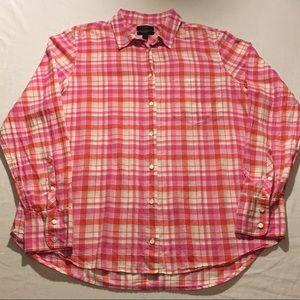 J. Crew Boy Pink Plaid L/S ButtonUp Size 12