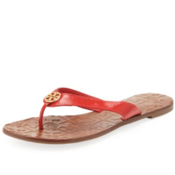 f004e5f3b2bdc3 Tory Burch Thora 2 Patent Thong Sandal
