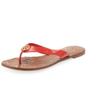 Tory Burch Thora 2 Patent Thong Sandal, Tory Red