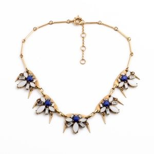 JUST IN Blue Starburst Statement Necklace