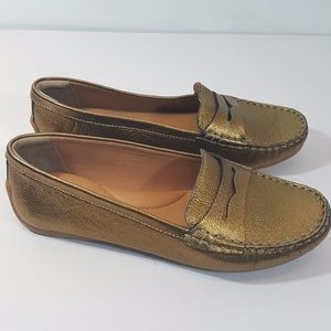 Clarks Doraville Nest Gold Metallic Flats Loafers
