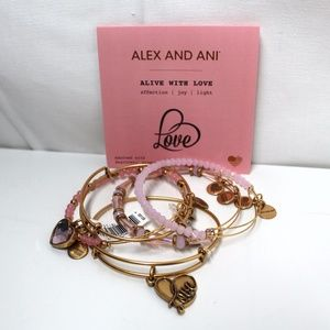 Alex and Ani Alive With Love Bracelet Gold