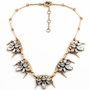 JUST IN Clear Crystal Starburst Statement Necklace