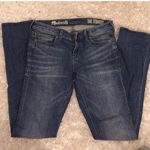 Madewell jeans blue rail straight 26 x 34 👖