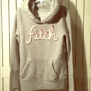 Girl's grey Abercrombie & Fitch hoodie.