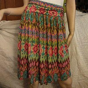 Lane Bryant multi color skirt size 18/20