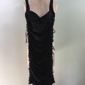 bebe // Lace Up Sweetheart Neck Dress // Size S