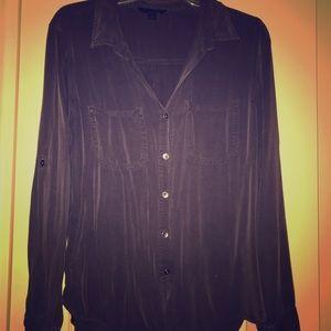 Rock and republic purple/grey button shirt.
