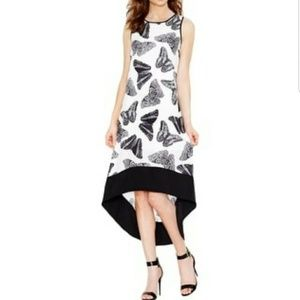 Kensie • High Low Butterfly Dress Black White