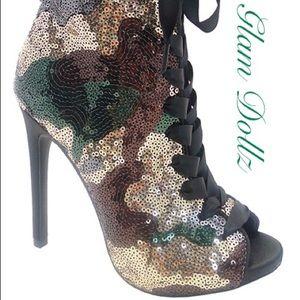 Camouflage Sequin Bootie! 🍁🍂