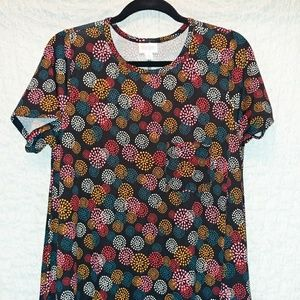 Lularoe Carly, multi-colored burst pattern