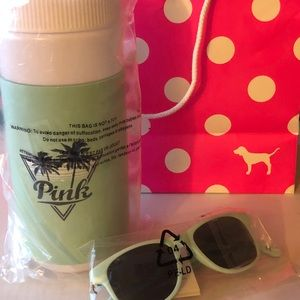 NWT Victoria's Secret waterbottle/ Sunglasses