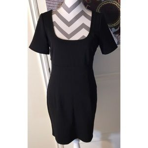All Black Open Back Design Bodycon Mini Dress