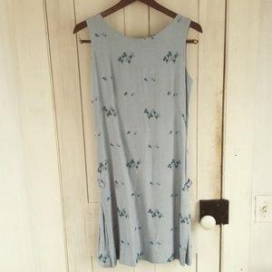 Vintage blue flower dress