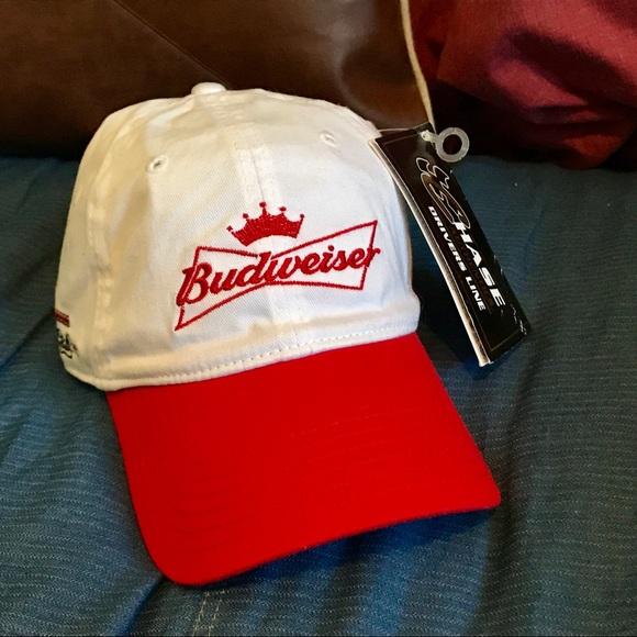 Vintage Budweiser Racing Adjustable Dad Cap NWT fdc9287c2fdf