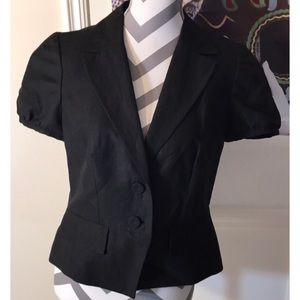 LOFT All Black short Sleeve Blazer