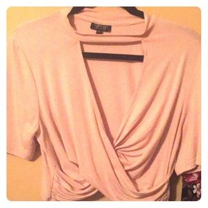 TOPSHOP cropped, fitted shirt with collar