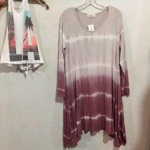 Bamboo Berry Tie Dye Knit Dress!! 😍❤️