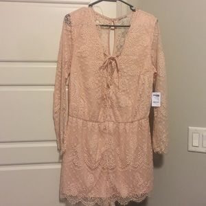 Brand new Charlotte Russe lace romper