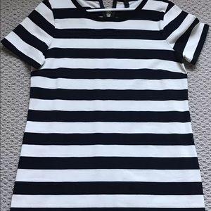 J crew striped cotton dress m medium