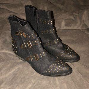 JustFab black booties