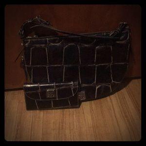 Dooney & Bourke Leather Handbag & Wallet Combo