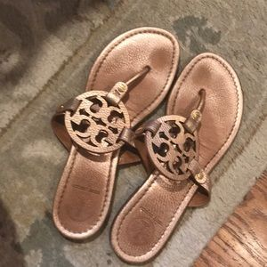 Tory Burch Miller in rose Gold size 9