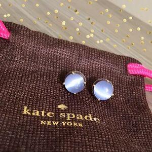 Kate Spade Light Blue Gumdrop Stud Earrings • NWT