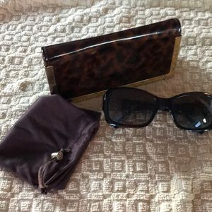 Tory Burch Sunglasses with Case & Cloth Bag
