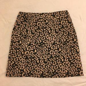 Loft Leopard Print Skirt