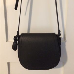 Black Crossbody bag with fringe detail