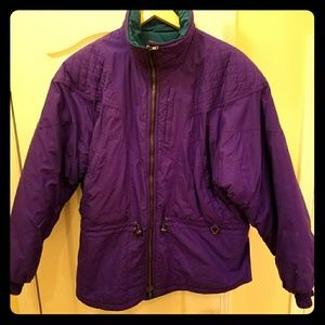 Purple ski jacket, size XL