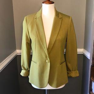 Vivienne Tam olive green one button blazer
