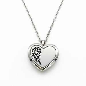 Stainless Steel Heart Aromatherapy Pendant Necklac