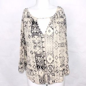ECOTE Women Urban Outfitters L/S Aztec Peasant Boh