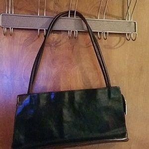 Hobo black bag with long shoulder strap