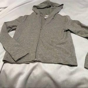 Gray Old Navy Zip Hoodie