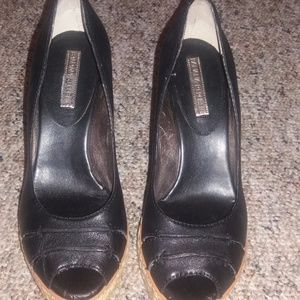 EUC Banana Republic Black Wedges Sz9
