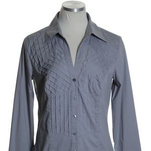 EXPRESS Stretch Pintuck Fitted Shirt